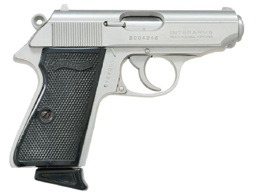 WALTHER STAINLESS PPK/S SEMI AUTO PISTOL. - 2