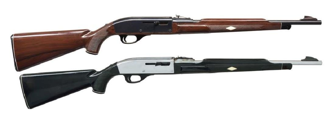 2 REMINGTON SEMI AUTO RIFLES.