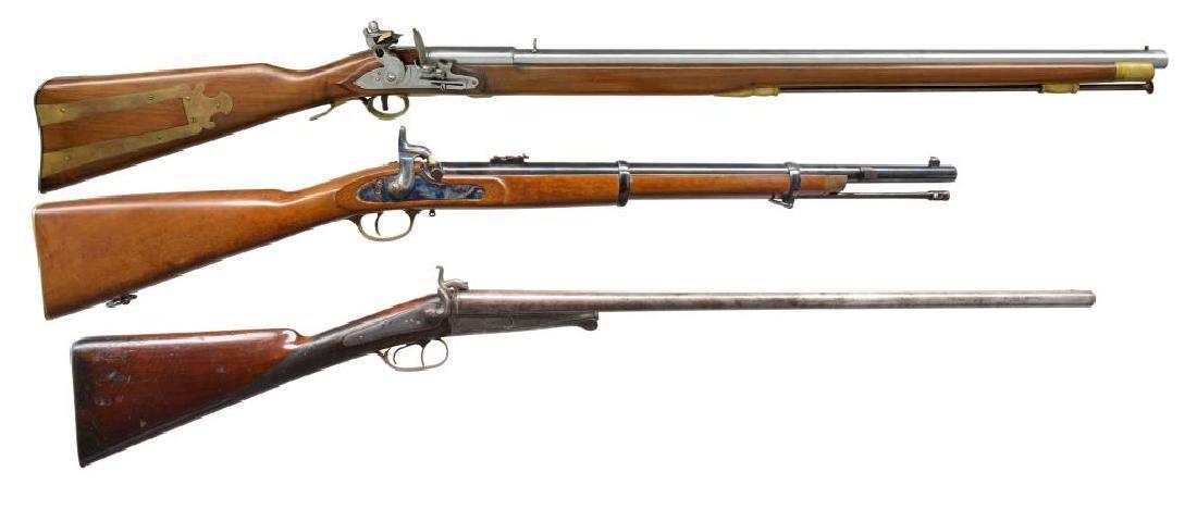 3 LONGARMS. BELGIAN, NAVY ARMS & SAR.