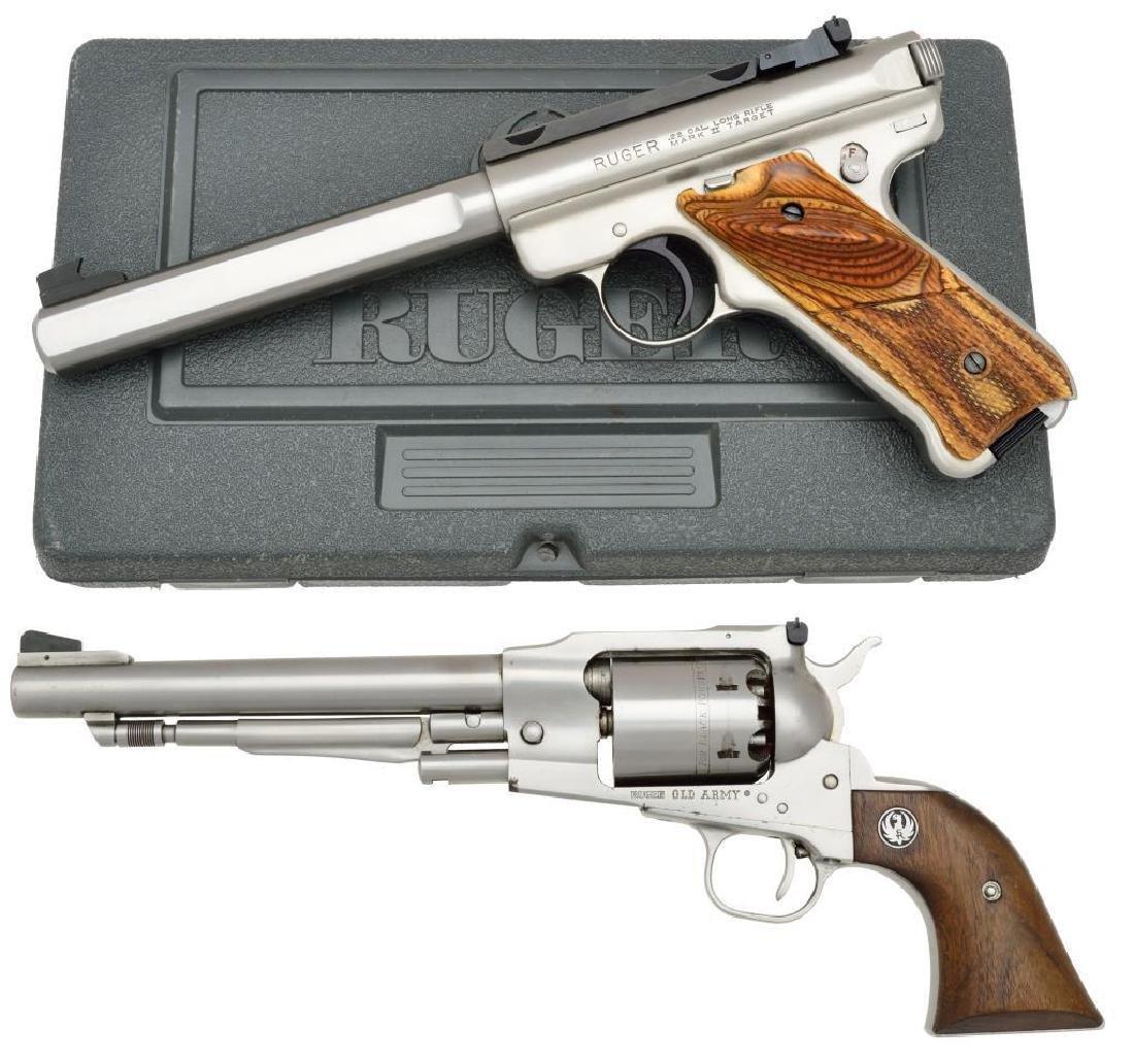 2 STAINLESS RUGER HANDGUNS.
