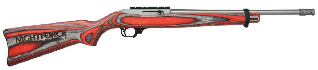 RUGER 10/22 NIGHTFORCE EDITION SEMI AUTO RIFLE.