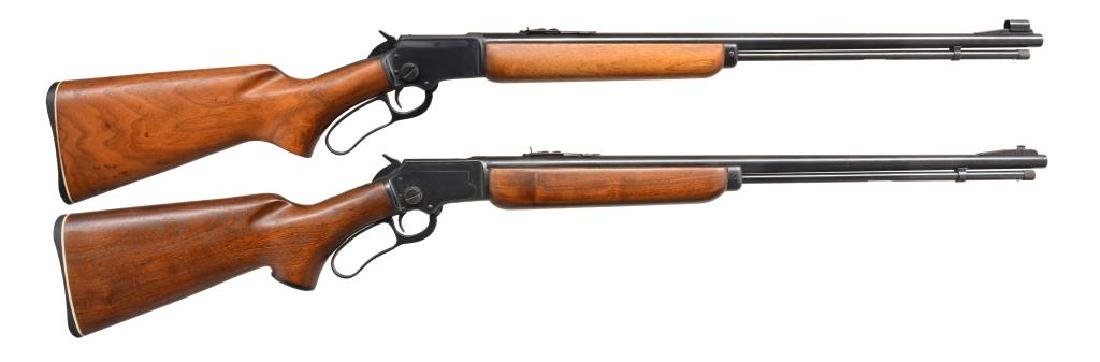 2 MARLIN MODEL 39A LEVER ACTION RIFLES.