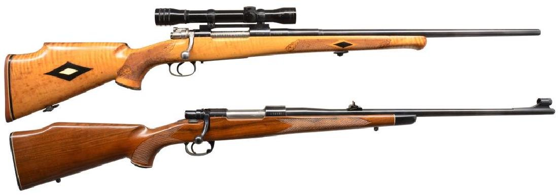 2 MAUSER BASED BOLT ACTION RIFLES.