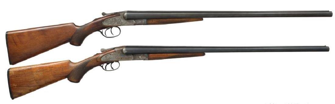 2 SHOTGUNS. L.C. SMITH & BAKER SIDELOCK.