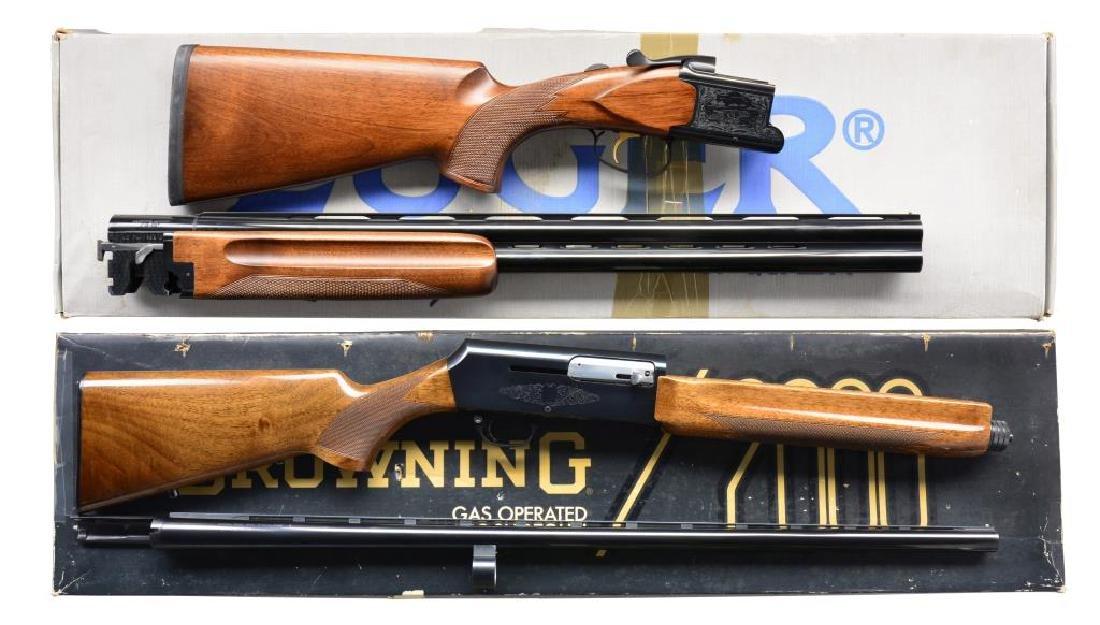 2 MODERN 12 GA SHOTGUNS.