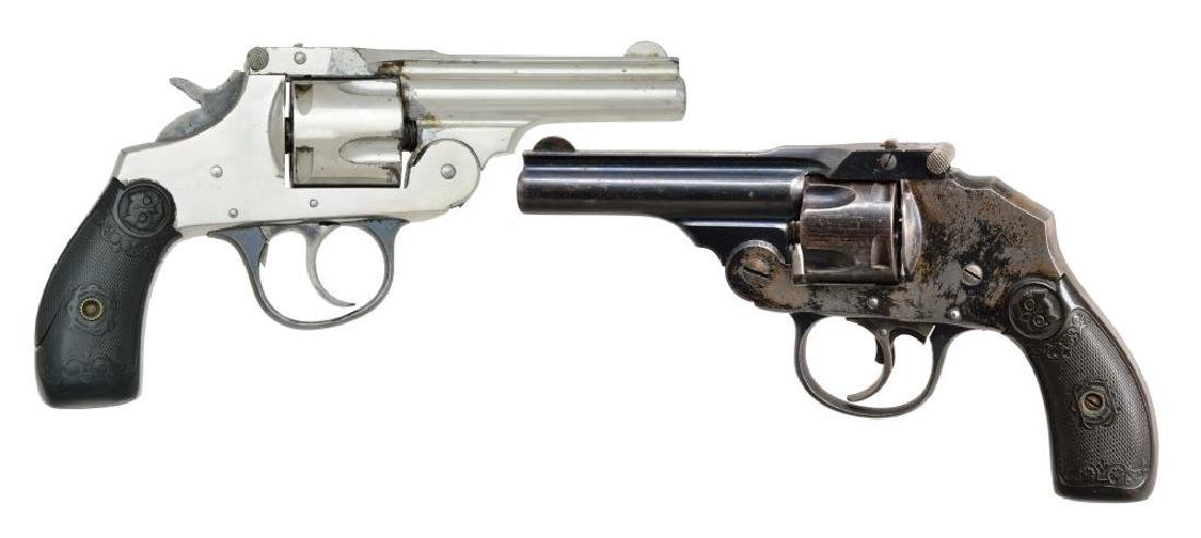 2 IVER JOHNSON SAFETY AUTOMATIC REVOLVERS.