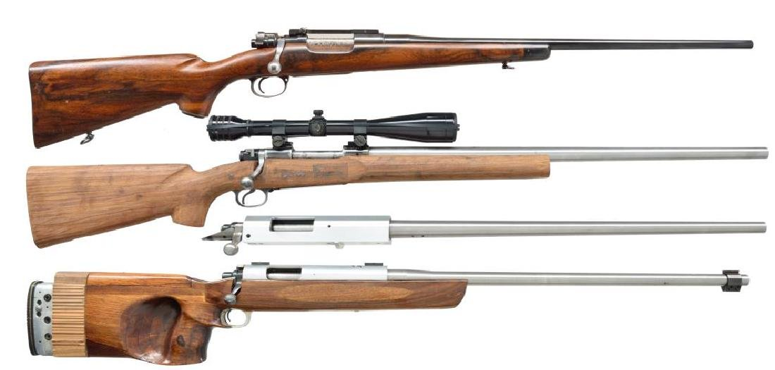 4 CUSTOM BOLT ACTION RIFLES.
