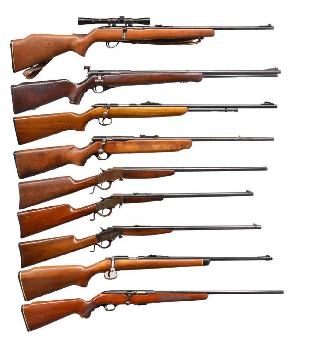 9 AMERICAN CAL. 22 RIFLES.