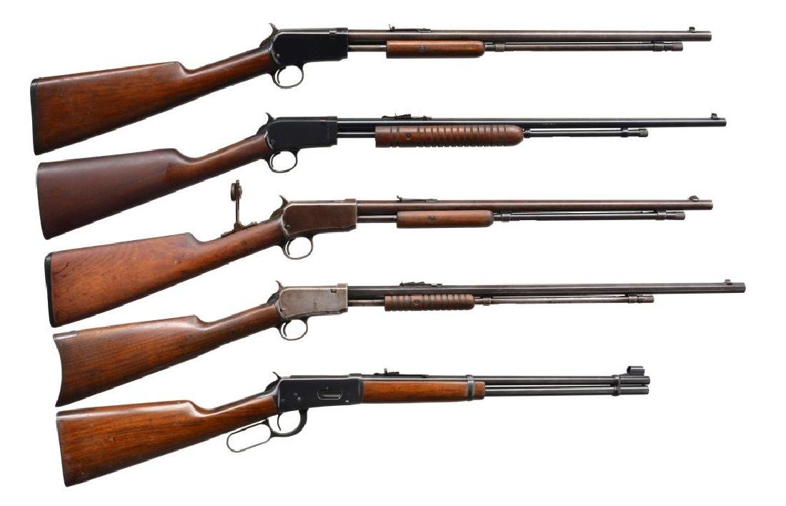 5 RIFLES. WINCHESTERS & ROSSI.