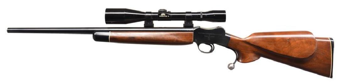 3 MARTINI STYLE SINGLE SHOT RIFLES. - 3