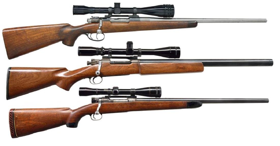 3 MILITARY ACTION BOLT ACTION RIFLES.