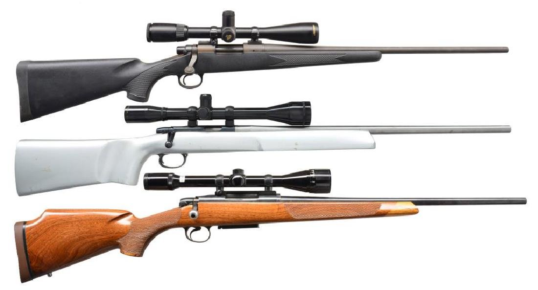 3 REMINGTON BOLT ACTION RIFLES.