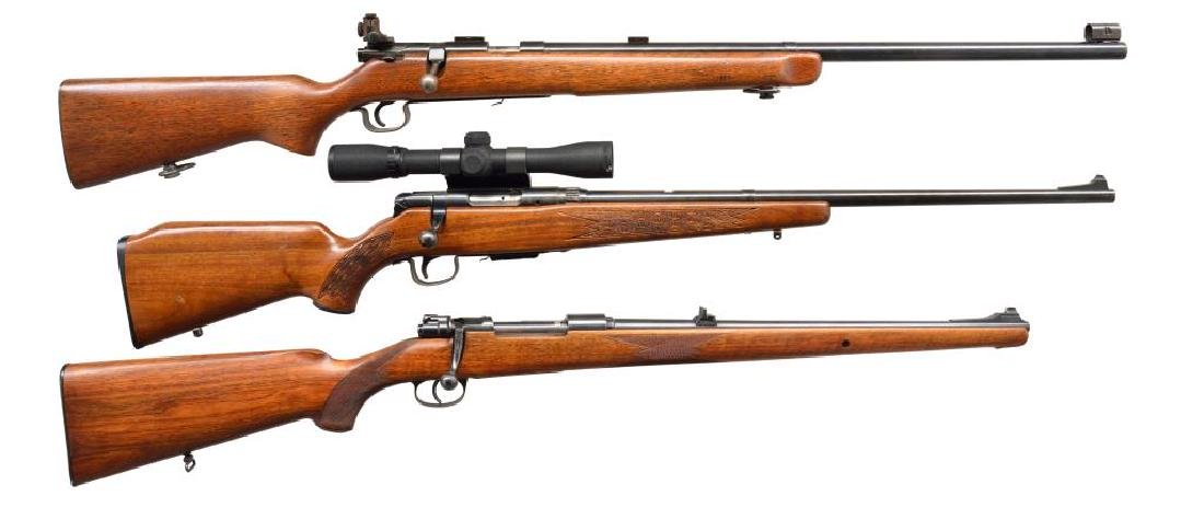 3 BOLT ACTION RIFLES.