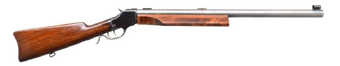 CUSTOM WINCHESTER HIGH WALL SINGLE SHOT RIFLE.