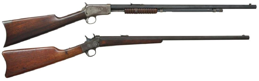 2 RIMFIRE RIFLES. WINCHESTER & REMINGTON.