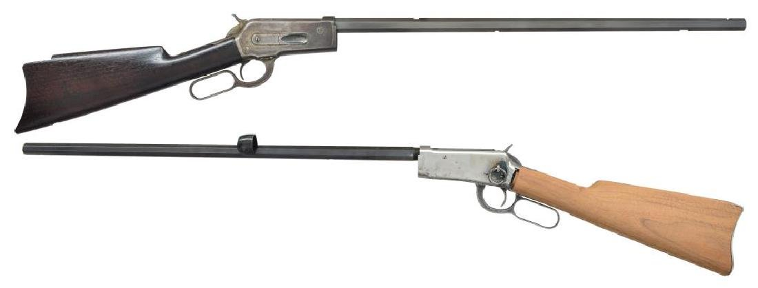 2 INCOMPLETE WINCHESTER LEVER ACTION RIFLES.