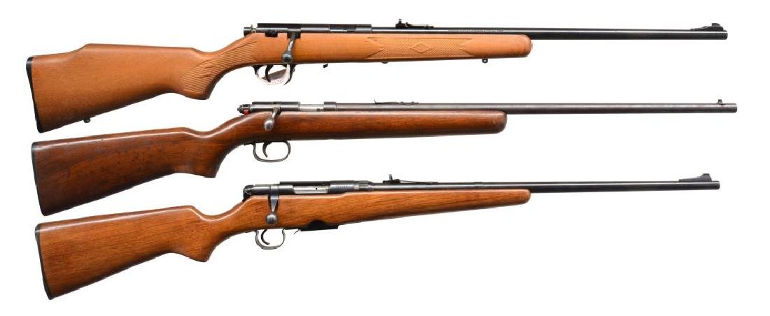 3 AMERICAN BOLT ACTION RIFLES.