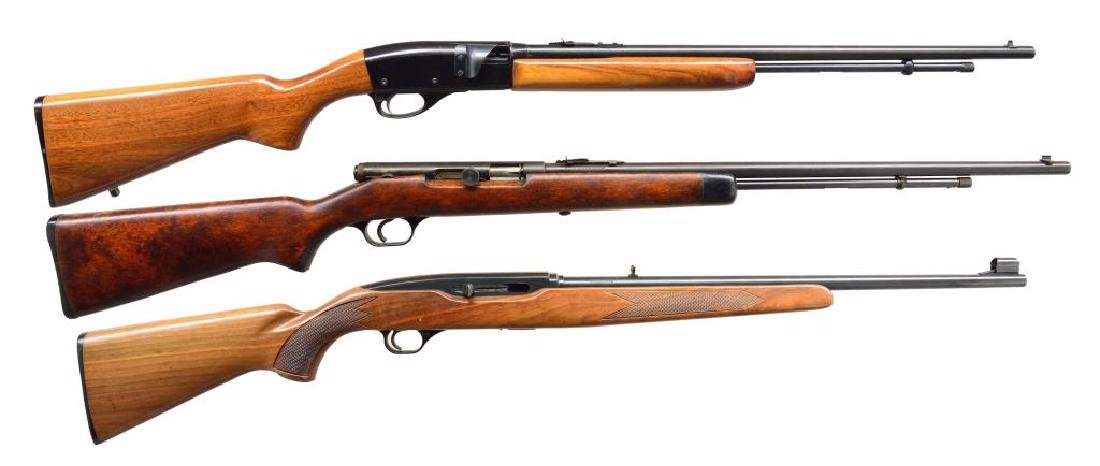 3 CALIBER 22 SEMI AUTO RIFLES.