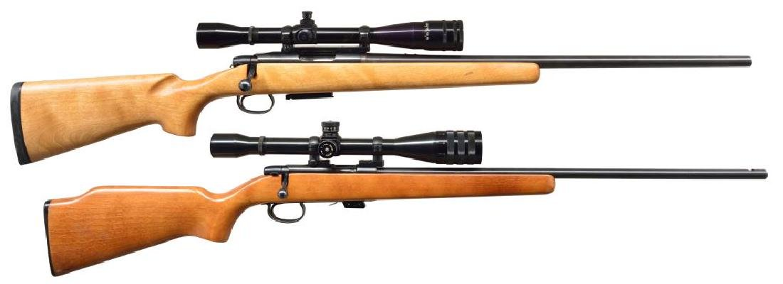 2 REMINGTON BOLT ACTION RIFLES.