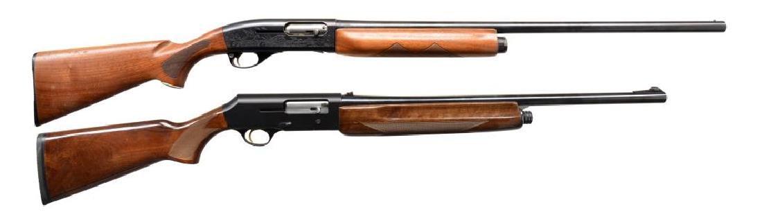 TWO 12 GA SEMI AUTO SHOTGUNS.
