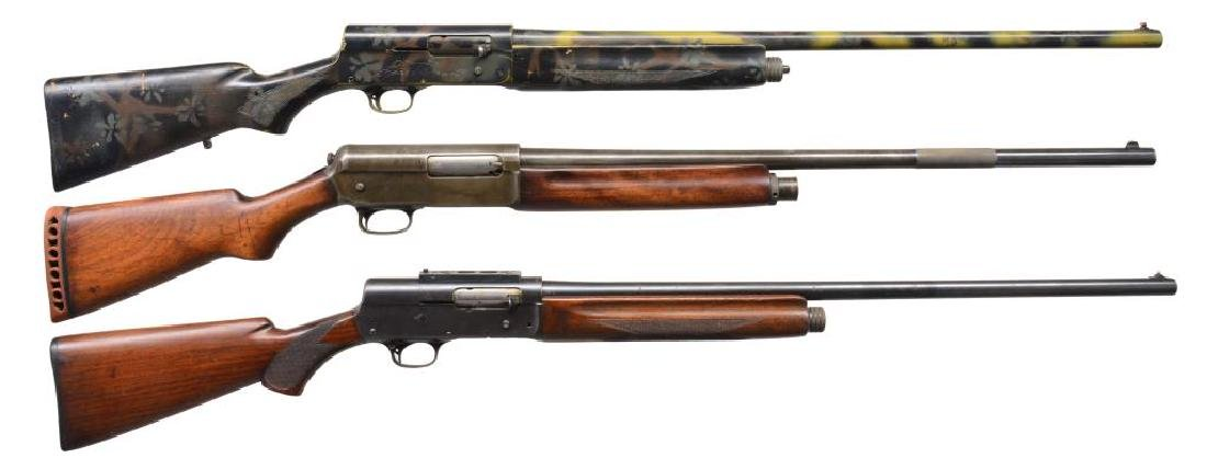 3 WINCHESTER & REMINGTON SEMI AUTO SHOTGUNS.