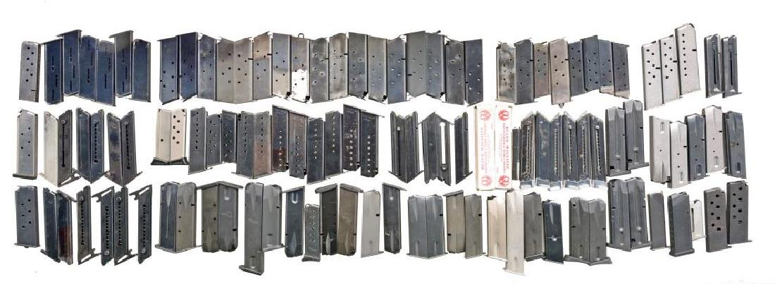 LARGE GROUPING OF APPROXIMATELY 110 PISTOL MAGS.