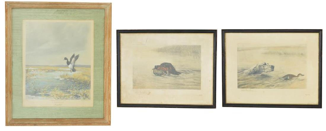 3 DESIRABLE FRAMED SPORTING PRINTS BY DANCHIN &
