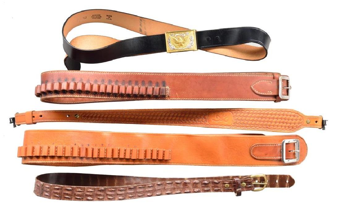 LARGE GROUP OF HOLSTERS, CARTRIDGE BELTS & MUCH - 3
