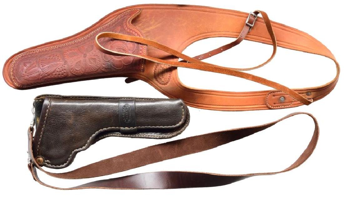 LARGE GROUP OF HOLSTERS, CARTRIDGE BELTS & MUCH - 4