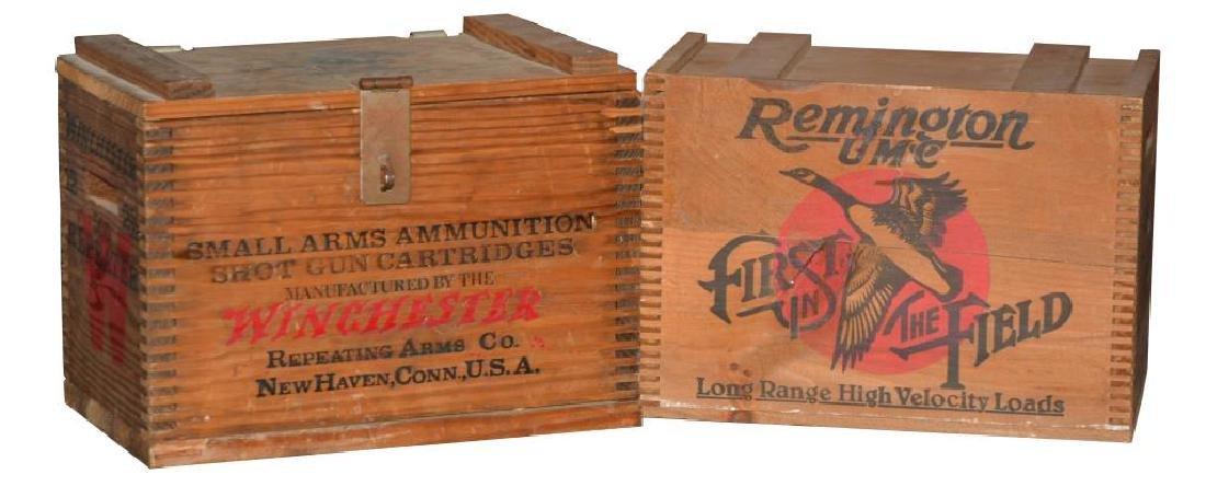 2 STEEL GUN SAFES & 2 AMMO CRATES. - 3