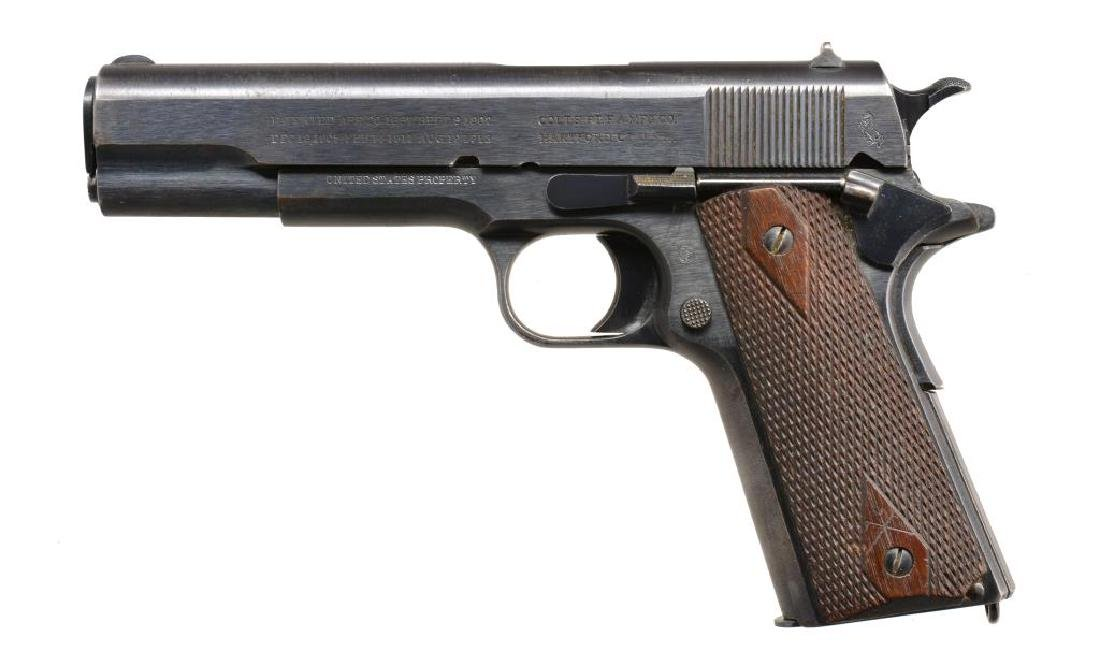 COLT MODEL 1911 SEMI AUTO PISTOL & SEDGLEY 22/45