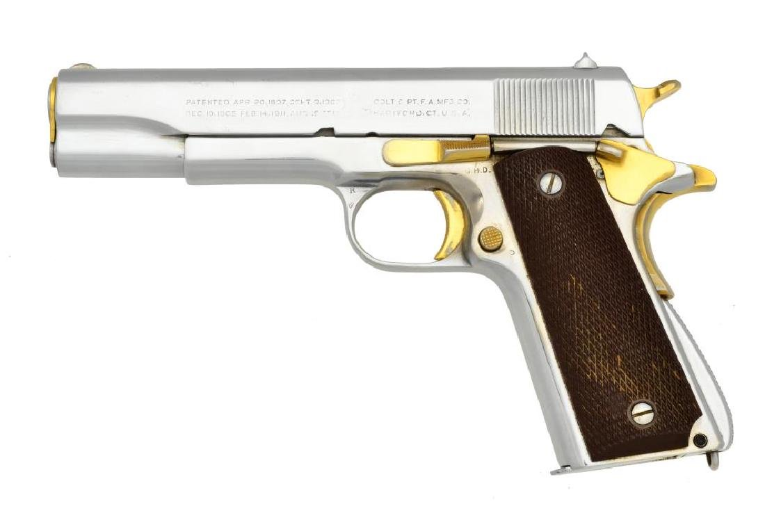 COLT CUSTOM MODEL 1911 A1 SEMI AUTO PISTOL.