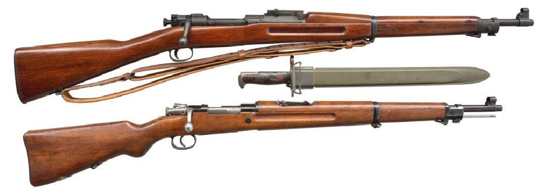 2 MILITARY BOLT ACTION RIFLES.
