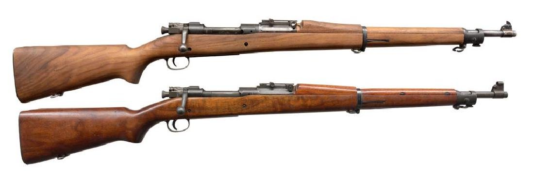 2 SPRINGFIELD MODEL 1903 BOLT ACTION RIFLES.