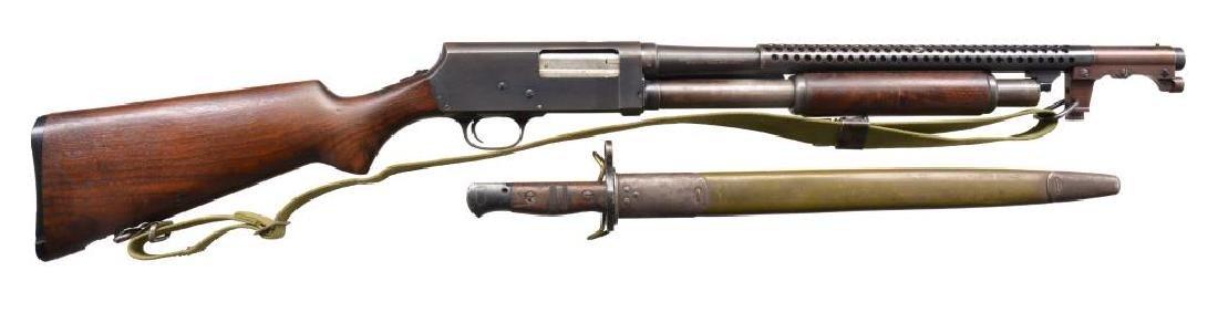 STEVENS MODEL 520-30 TRENCH PUMP ACTION SHOTGUN.