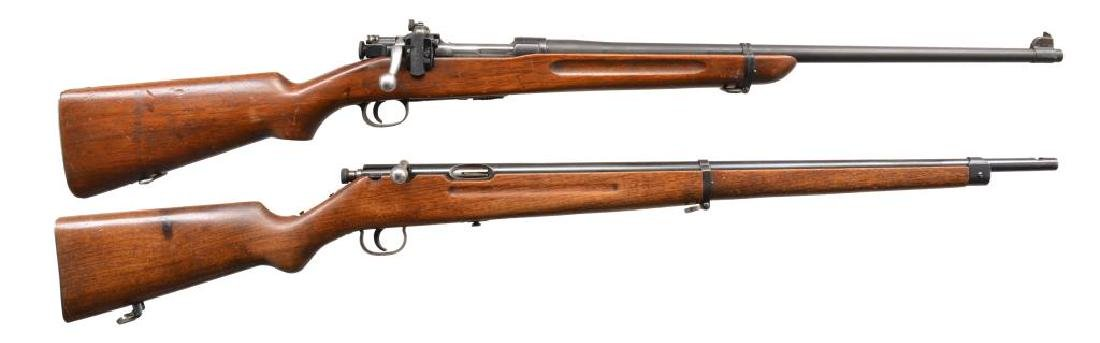 2 BOLT ACTION RIFLES.