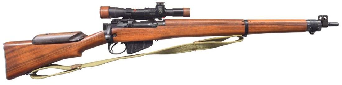 BRITISH NO. 4T BOLT ACTION SNIPER RIFLE.