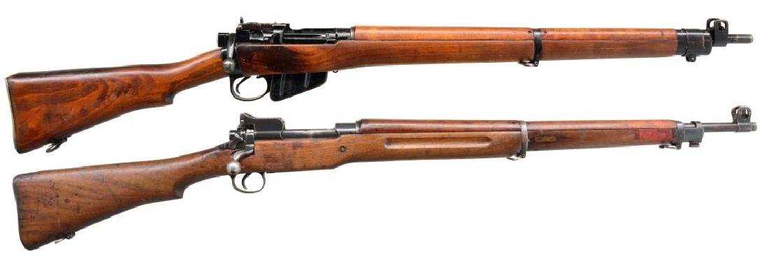 2 BRITISH MILITARY BOLT ACTION RIFLES.