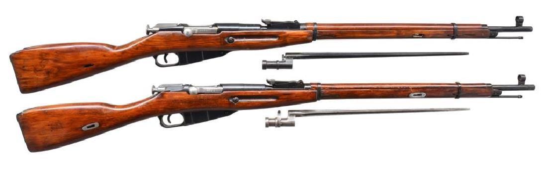 2 IZHEVSK 91/30 BOLT ACTION RIFLES.
