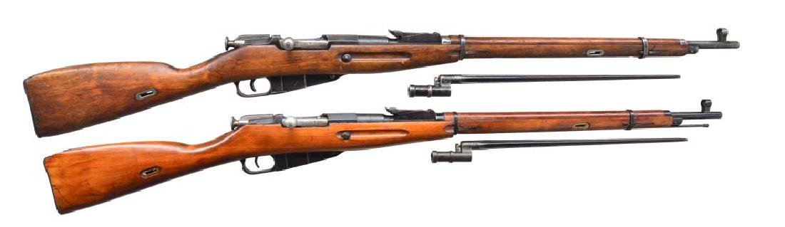 2 RUSSIAN MODEL 91/30 BOLT ACTION RIFLES.