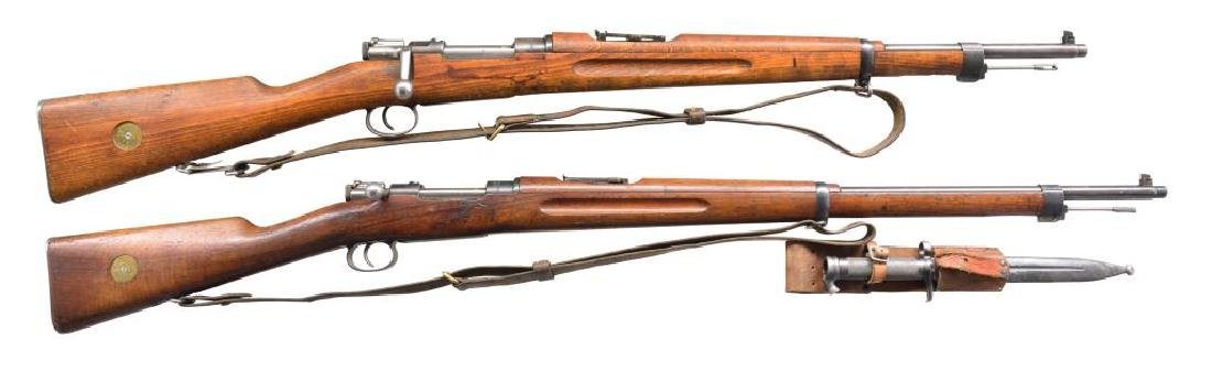 2 SWEDISH MILITARY BOLT ACTION RIFLES.