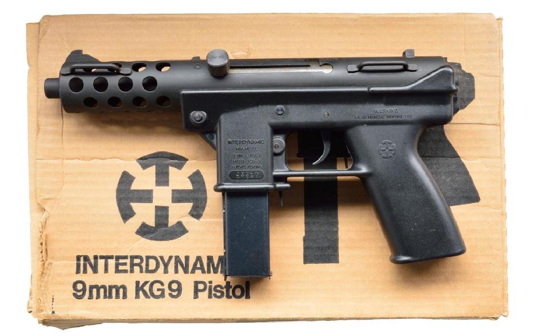 RARE INTERDYNAMIC MODEL KG-9 SEMI AUTO PISTOL.