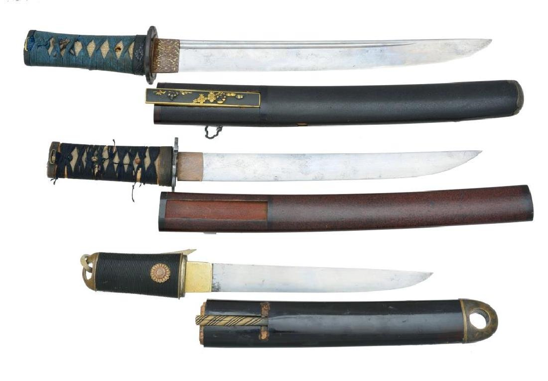 3 JAPANESE TANTO.