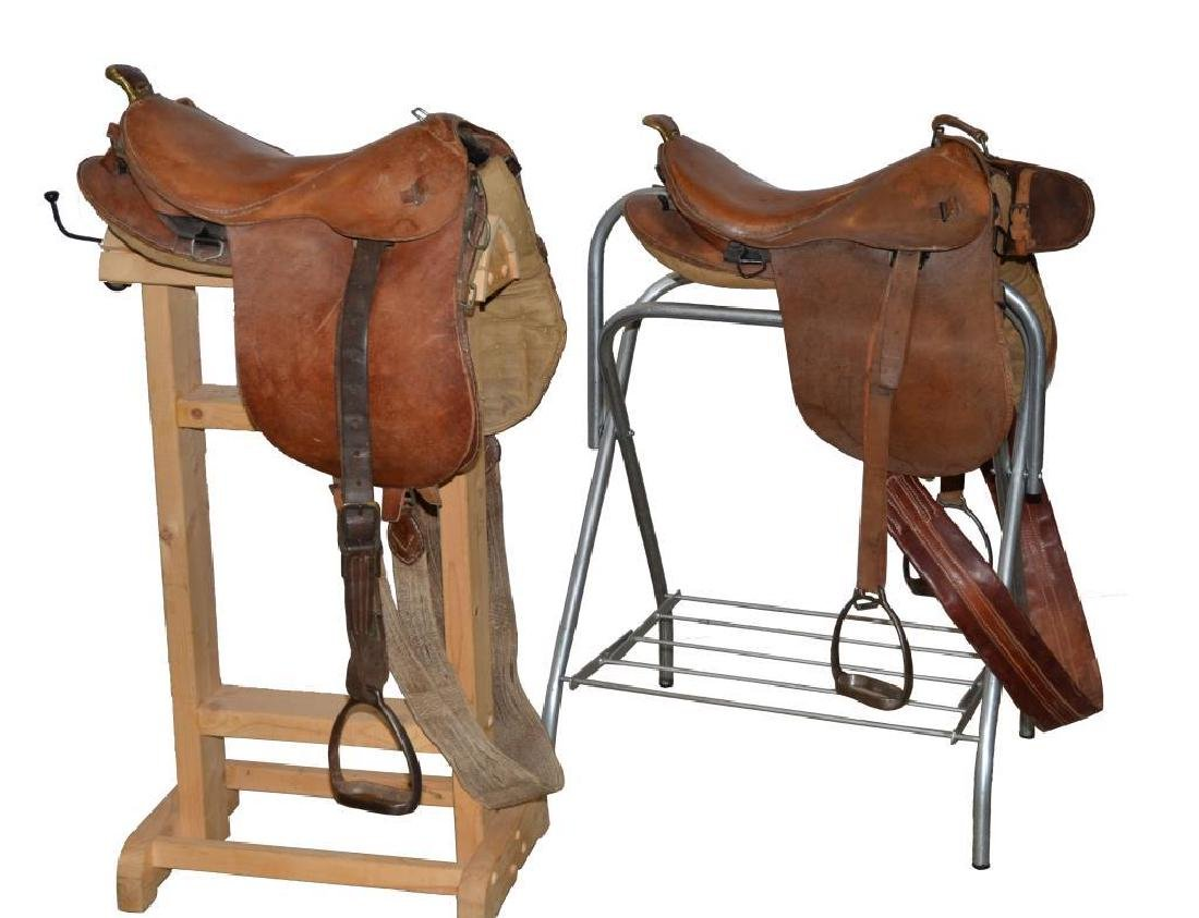 2 JAPANESE CAVALRY SADDLES.