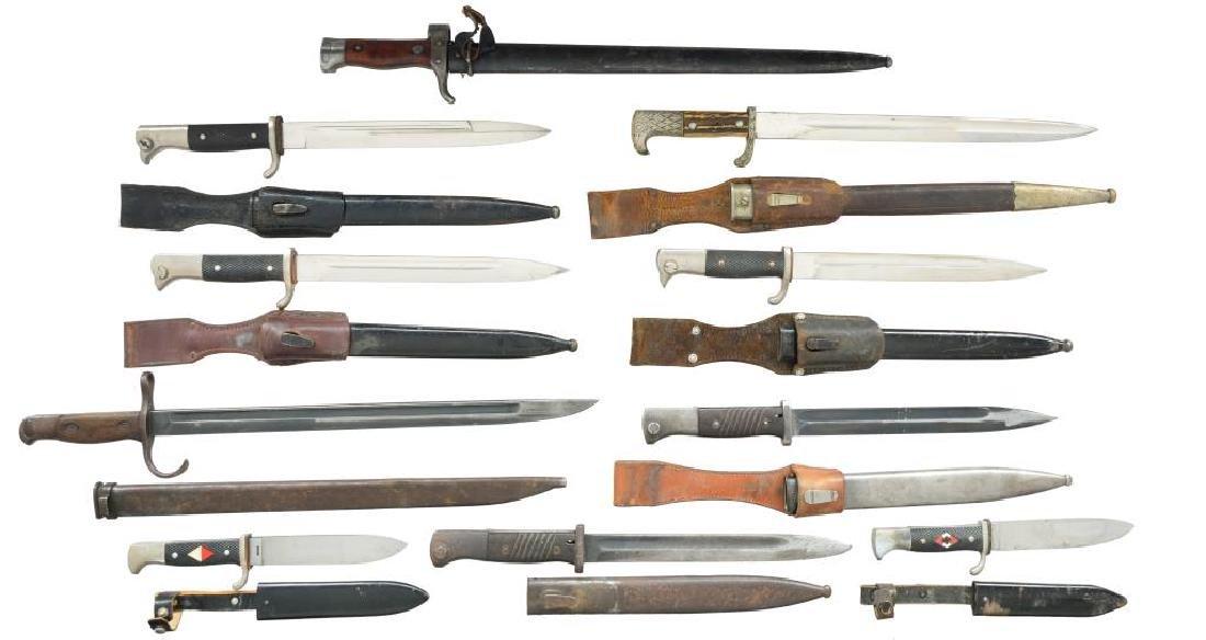 8 BAYONETS & 2 YOUTH KNIVES.