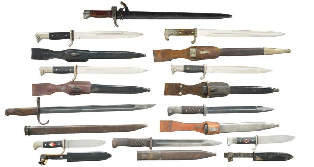 8 BAYONETS & 2 YOUTH KNIVES.