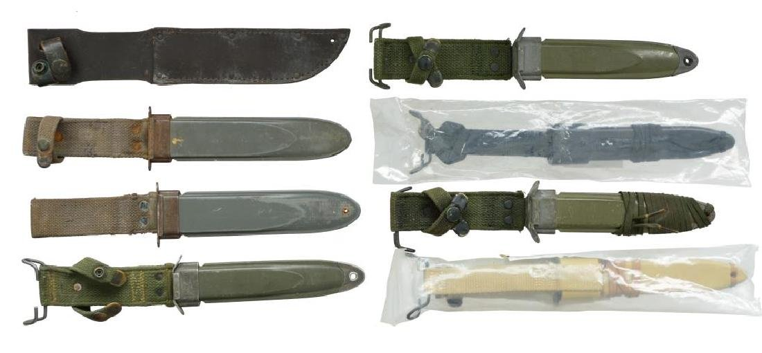 35 BAYONETS FROM VARIOUS COUNTRIES & 7 SCABBARDS. - 5