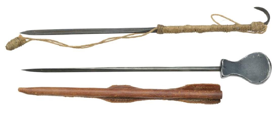 2 BRITISH SOE STYLE WEAPONS.