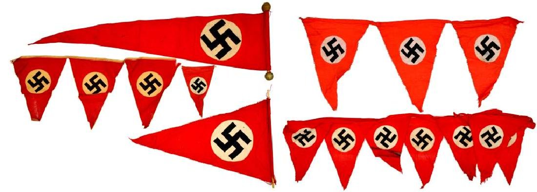 WWII GERMAN BANNERS, PENNANTS & FLAG. - 3