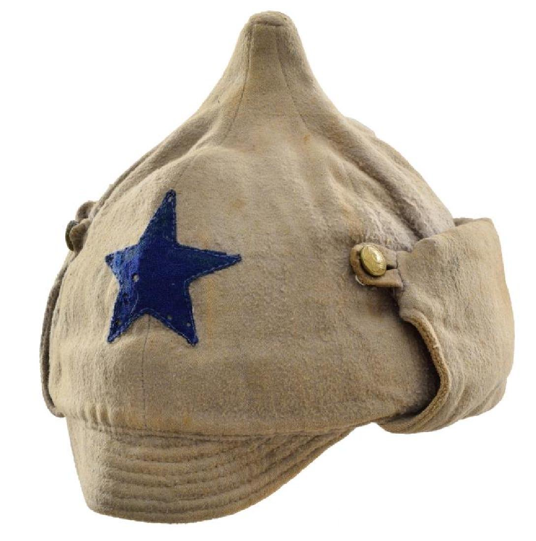 WWII RUSSIAN FLAG & RUSSIAN BUDENOVKA CAP. - 3